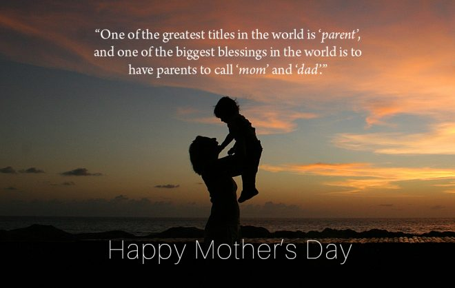 Wishing all mothers everywhere a joyful and fulfilling Mother's Day.