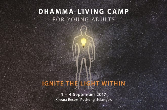 Ignite the light within us with Dhamma to shine the path forward in life.