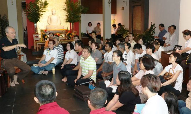 Dr. Punna Wong was invited to Nalanda Centre to give a talk on Buddhist leadership.