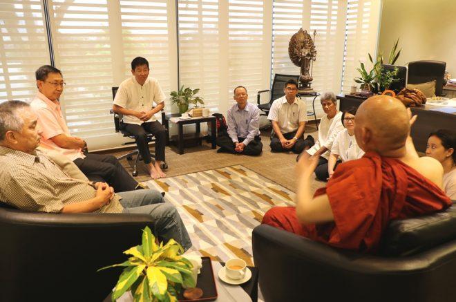 Several meetings were held between Ven. Sanghasena and Nalanda officers.