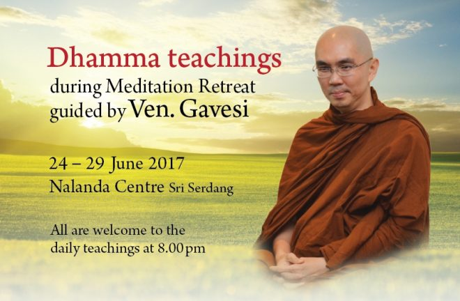 We welcome everyone to attend public Dhamma talks at 8pm daily, from 24 to 29 June.
