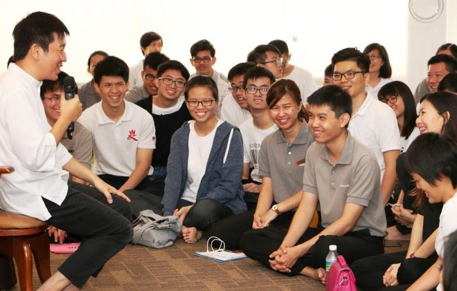 Bro. Tan shared with everyone the way to practise Dhamma.