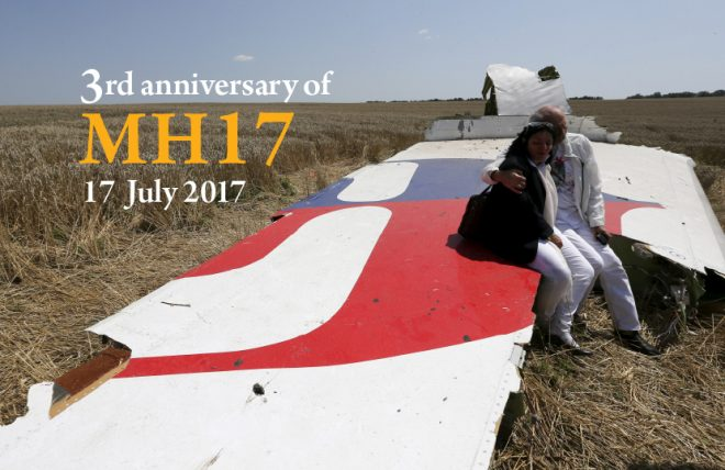 We remember the victims of MH17 and their remaining loved ones.