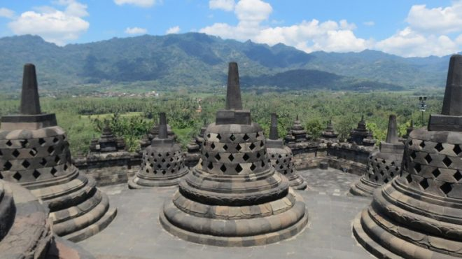 Borobudur Stupa located in Magelang, Central Java.
