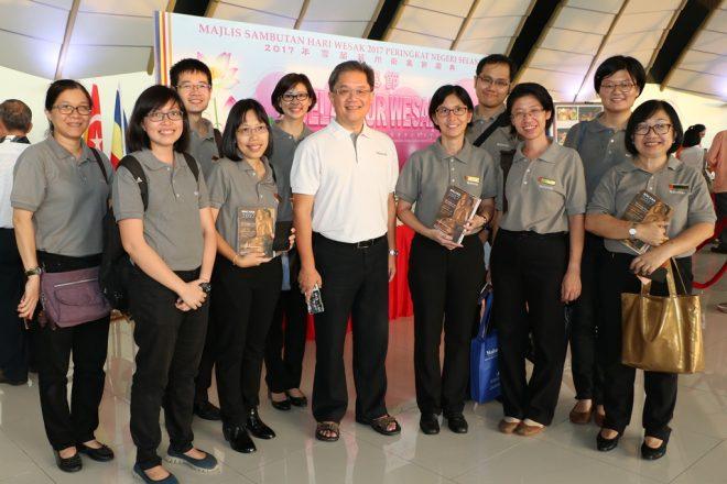 The Nalanda team at the Wesak celebration in Shah Alam.