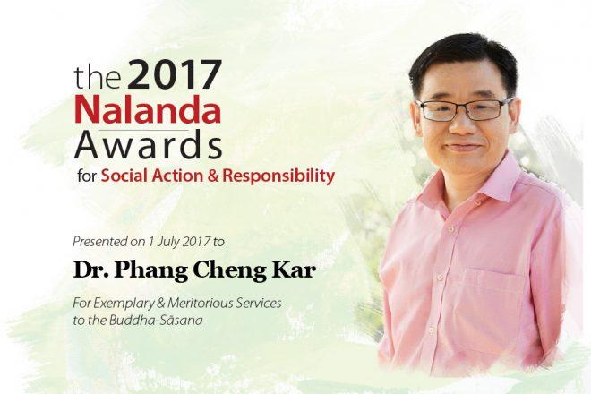 2017 Nalanda Award recipient - Dr. Phang Cheng Kar.